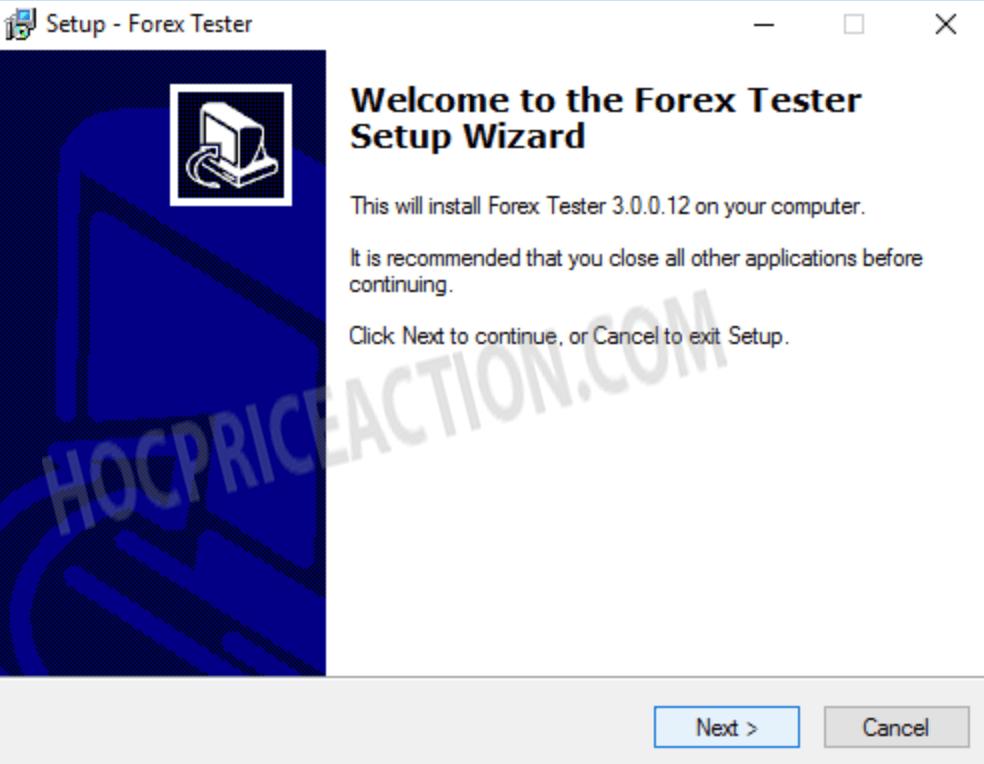 cài đặt forex tester