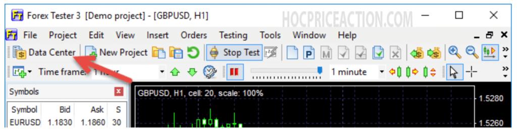 cơ sở dữ liệu forex tester