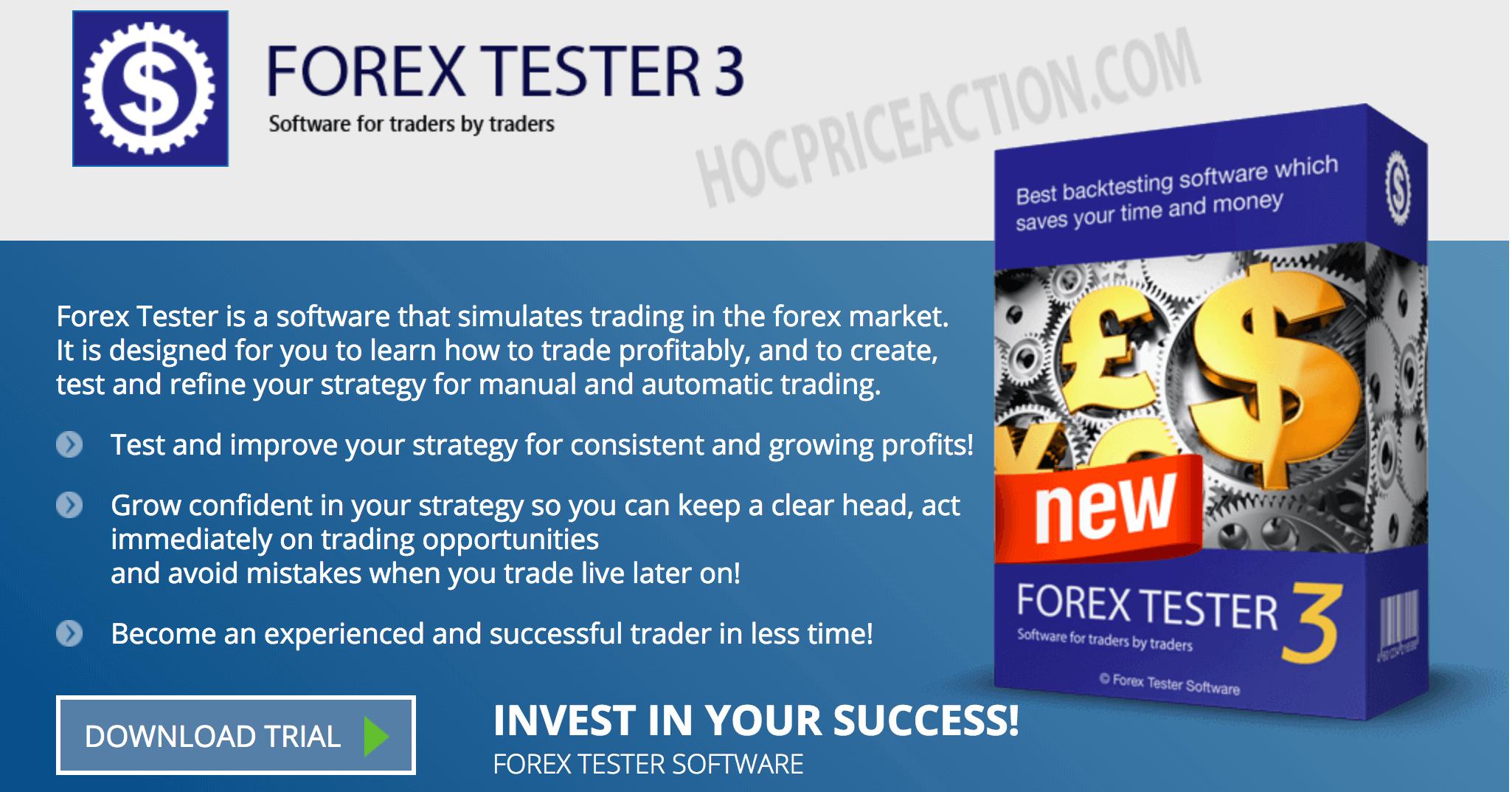 Forex tester 3 – Công cụ giao dịch giả lập tuyệt vời