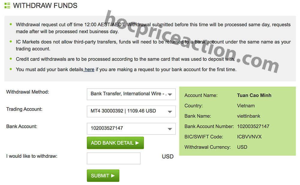 Hướng dẫn rút tiền từ ICMarkets và những lưu ý quan trọng